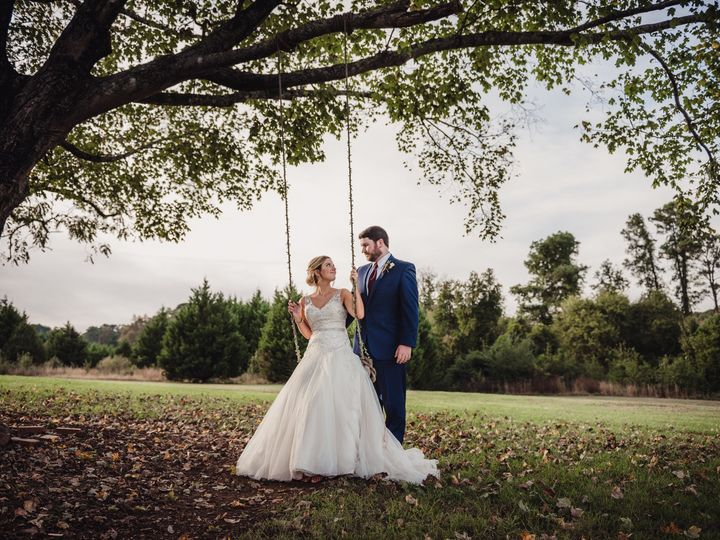Tmx 1510245805068 Bride Sitting On A Swing With Her Groom Rolesville, NC wedding photography