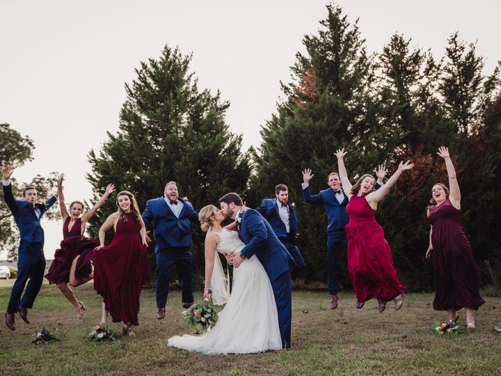 Tmx 1510245817438 The Bridal Party Jumping In The Air Behind The Bri Rolesville, NC wedding photography
