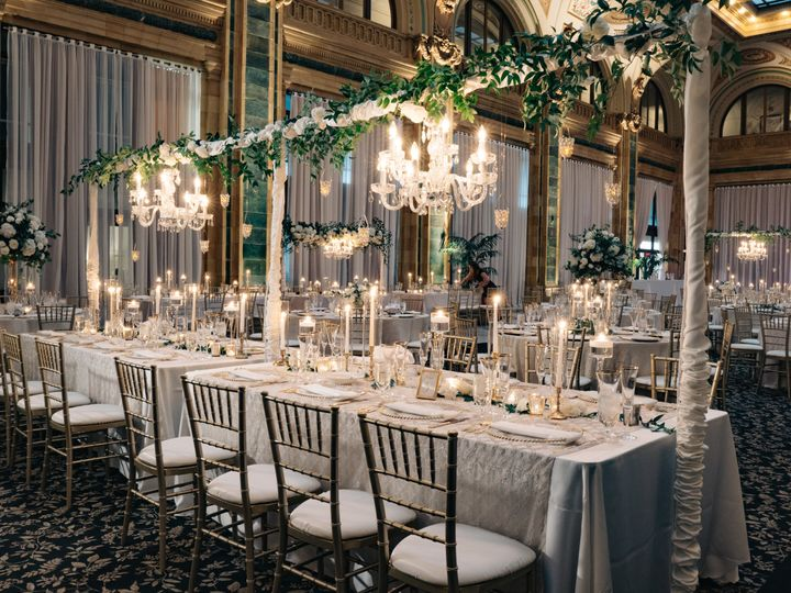 Tmx Joeykennedy Head Table W Chandeliers 51 31156 Pittsburgh, PA wedding venue