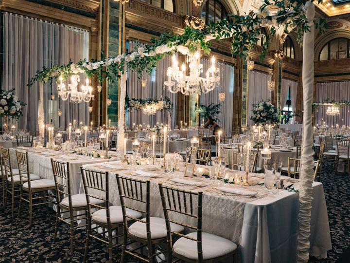 Tmx Joeykennedy Head Table W Chandeliers 51 31156 Pittsburgh, PA wedding venue