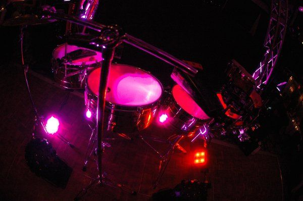 Uplit percussion rig.  That looks hot!