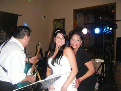 Megamazon performing for the bride. The Temecula Winery