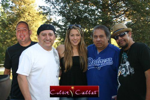 Megamazon with Colbie Caillat at a Megamazon family function.