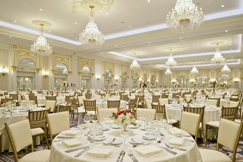 Wedding recpeption area