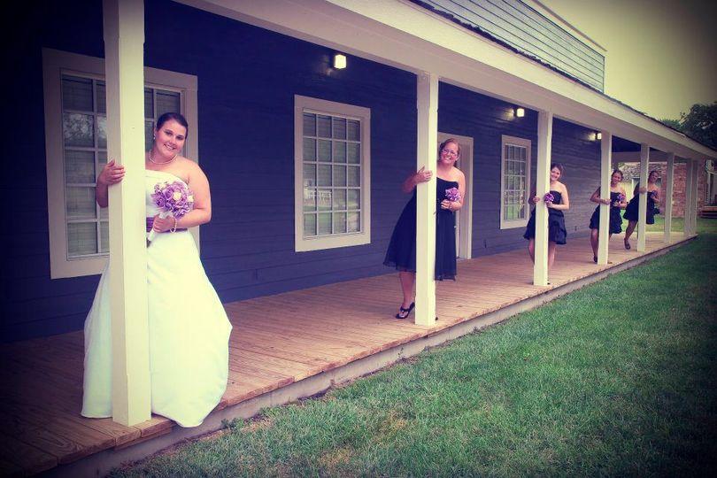 Porch wedding party