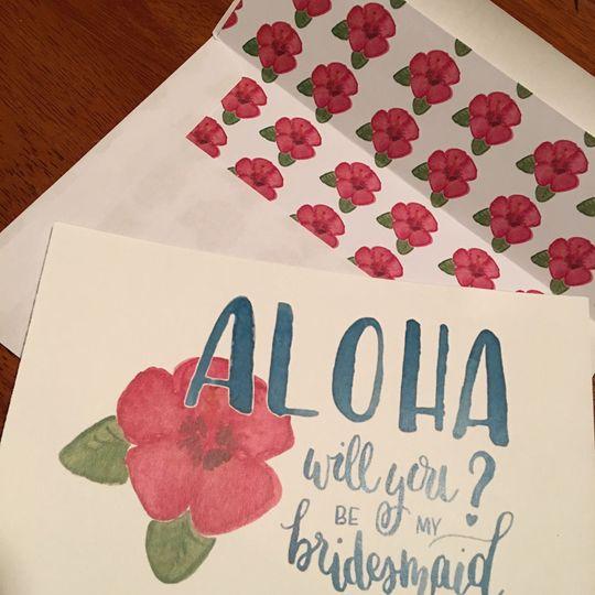 Aloha Bridesmaid Proposal