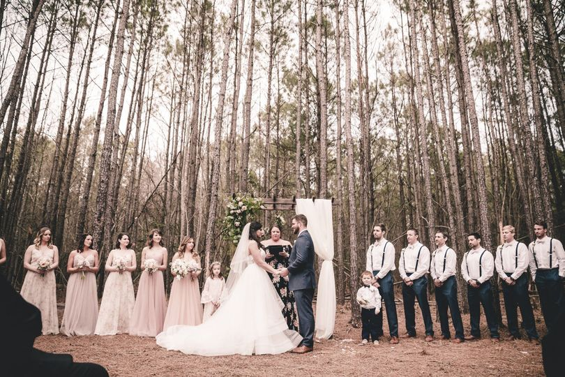 Forested ceremony site  Photo credit: Christina Crespo Photography