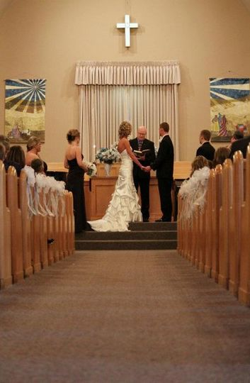 Traditional church wedding, from when I pastored 1st Christian Church, Fremont, NE