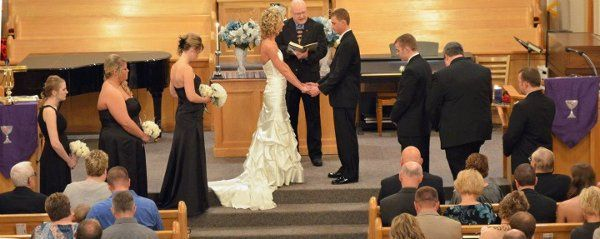 Traditional church wedding