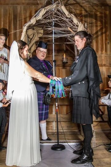 Handfasting part of the service