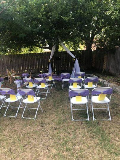 #microwedding ceremony setup