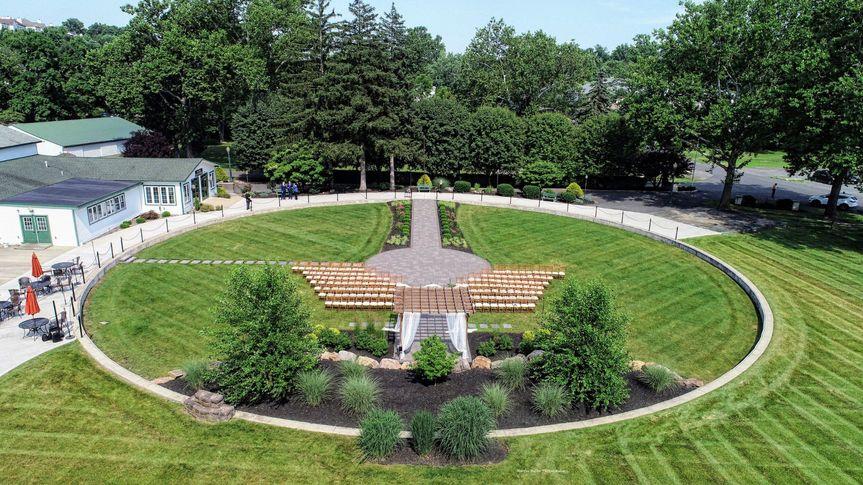 Drone Wedding Garden