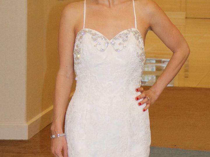 Tmx 1459937085859 Low Back Tompet Lace Wedding Dress Silver Beading  Orlando, FL wedding dress
