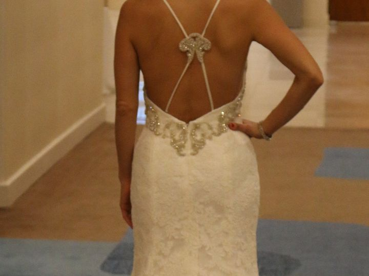 Tmx 1459937104215 Low Back Tompet Lace Weddinf Dress Silver Beading  Orlando, FL wedding dress