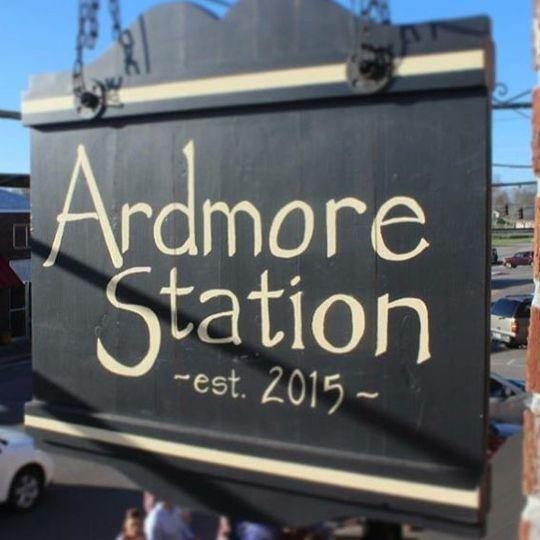 Ardmore Station sign