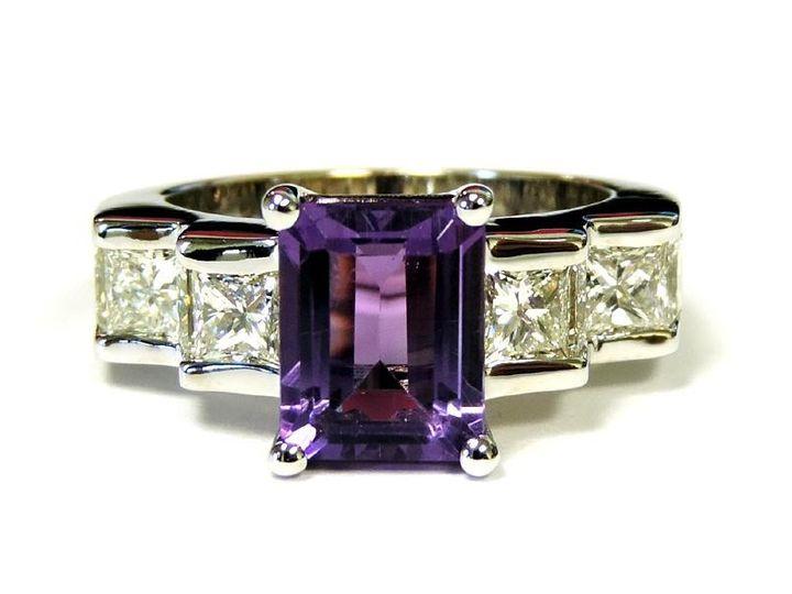 Tmx 1386779948091 14 Kt. Wg Set With A 3 Ct. Emerald Cut Amethyst Su Atlanta wedding jewelry