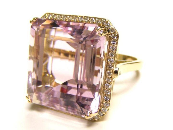 Tmx 1386779953002 Custom 18 Kt. Gold Holding A 15 Ct. Morganite Ston Atlanta wedding jewelry