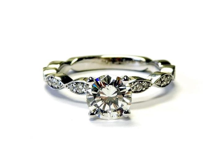 Tmx 1386780156243 Custom 14kt Wg Holding A Round 1 Carat Diamond Wit Atlanta wedding jewelry