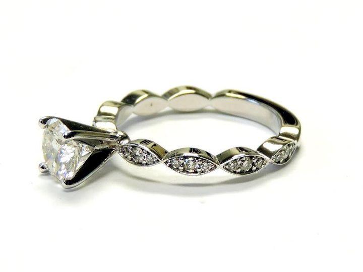 Tmx 1386780160487 Custom 14kt Wg Holding A Round 1 Carat Diamond Wit Atlanta wedding jewelry