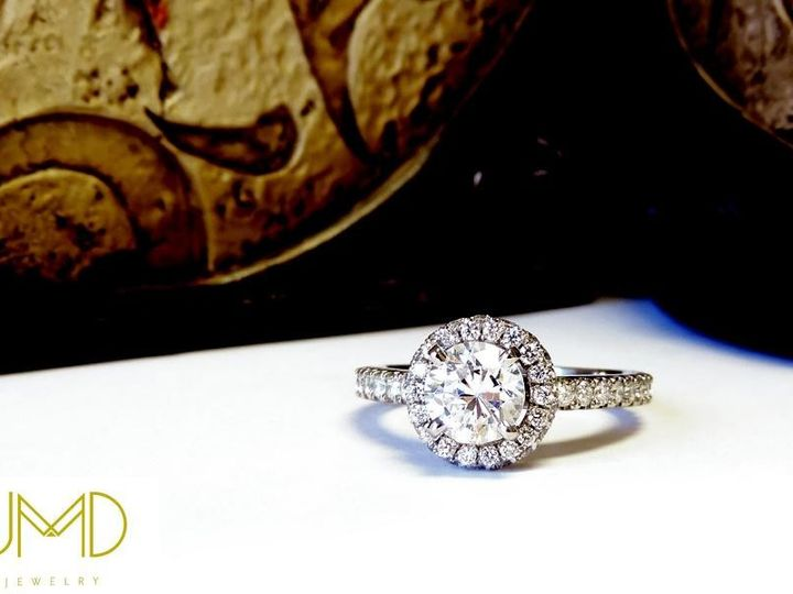 Tmx 1386780164920 Custom 2 Ct Round Halo Style Set In White Gold Set Atlanta wedding jewelry