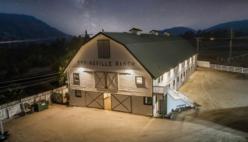 Night view of the Barn!