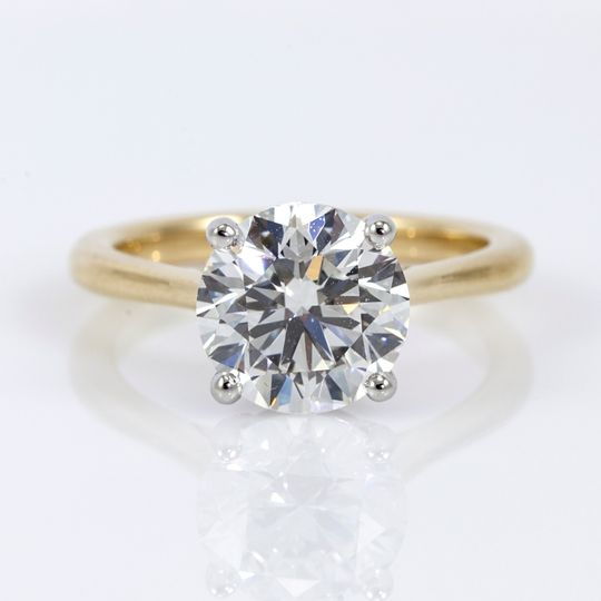 18K yellow gold solitaire