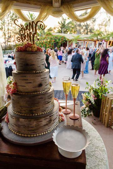Wedding Cake Crowd Shot