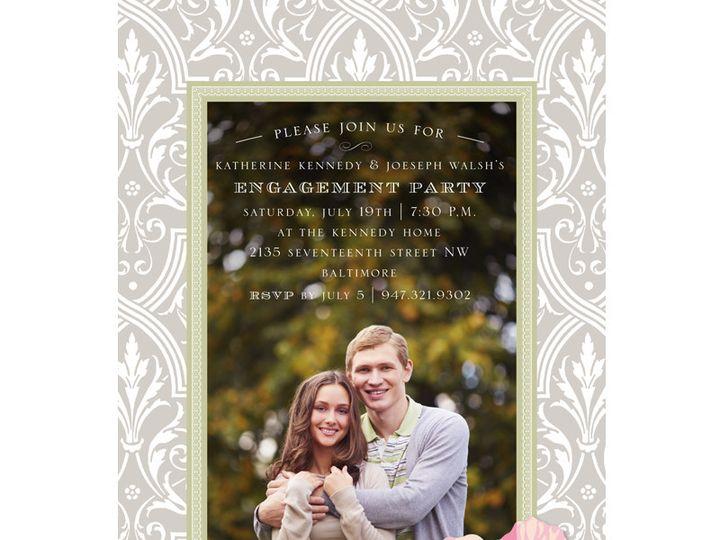 Tmx 1454441236039 Grey Damask With Roses Bristol wedding invitation