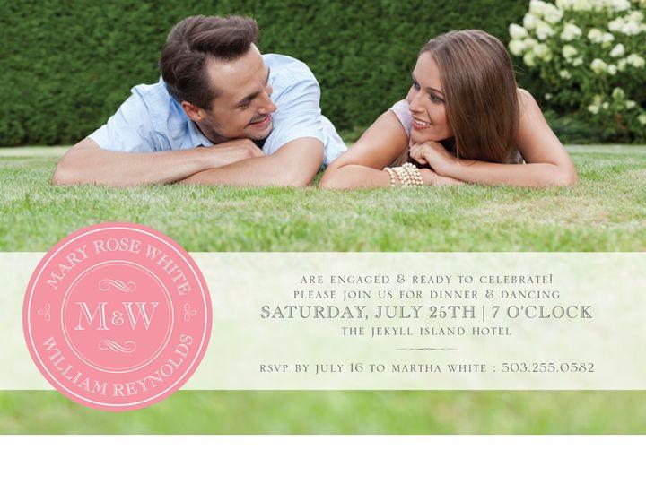Tmx 1454441242087 Pink Stamped Monogram Bristol wedding invitation