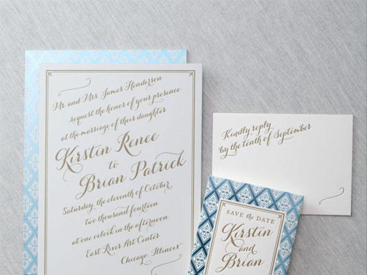 Tmx 1454507700018 Galleryfairfielddauphinepressletterpressedgingfoil Bristol wedding invitation