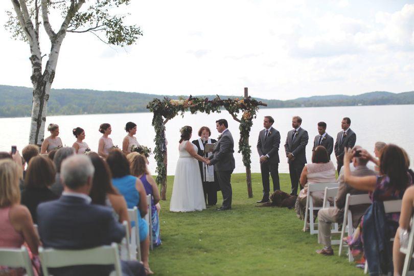 Beach House wedding ceremony