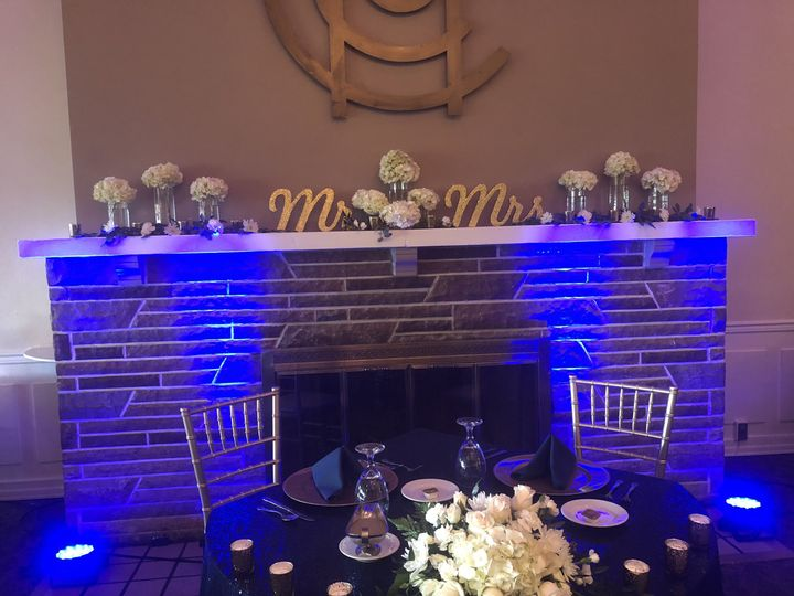 Custom SweetHeart Table up-lighting