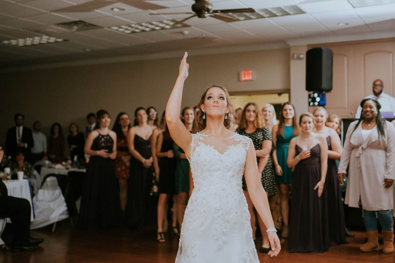 Bouquet Toss Karcher Wedding