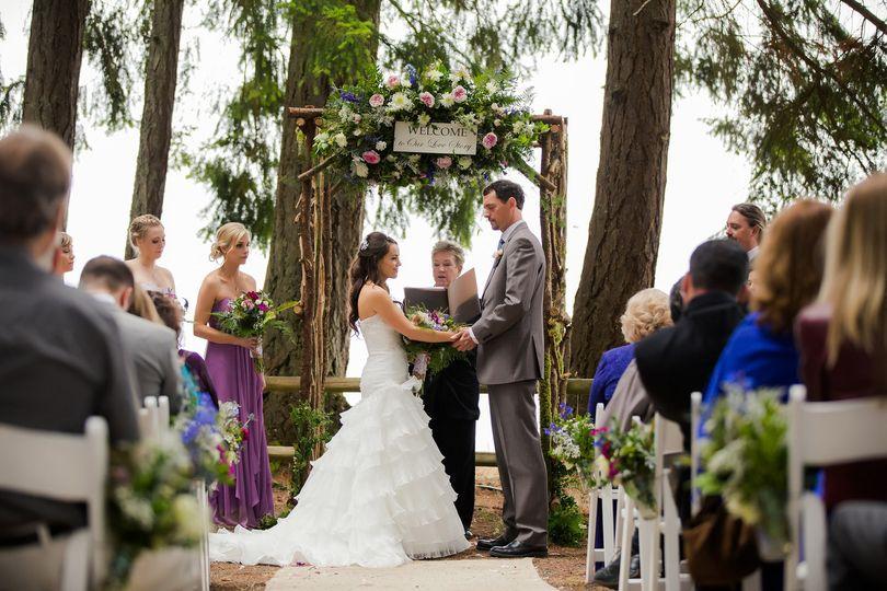 Wedding setup outdoor