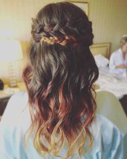 Beautiful braid and waves