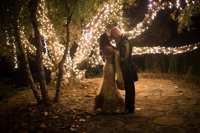 Kiss at midnight under the twinkle lights.