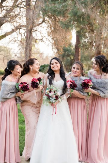 Maria and her bridemaids