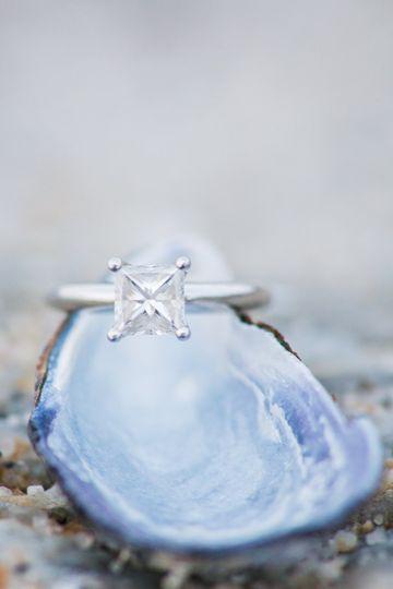 Close up on Kristine's ring