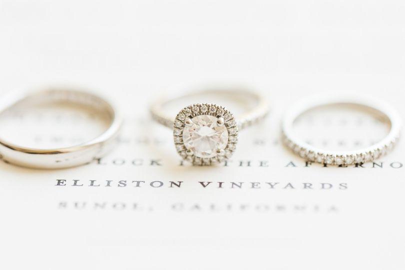 Wedding day ring detail