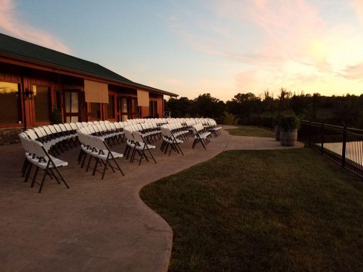 Pavilion patio ceremony