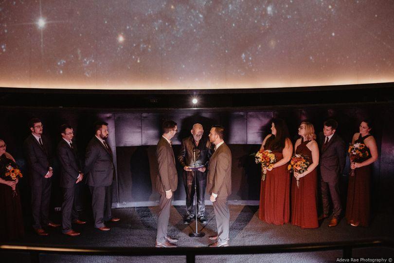 Custom planetarium ceremony