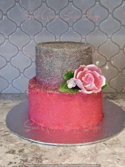 Sparkling pink cake