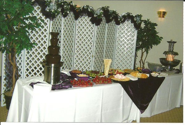 Chocolate Fountain setup (Many different options available.)