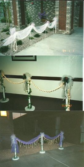 Different Stanchions (With or without lights available, usually used to mark entrance ways.)