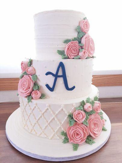 2 Tier Summer Wedding Cake