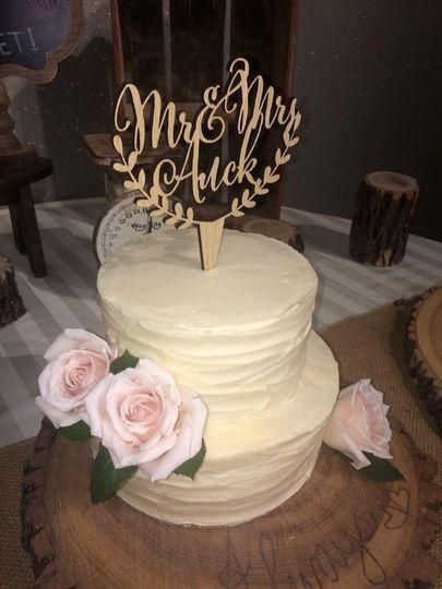 2 Tier Rustic Wedding Cake