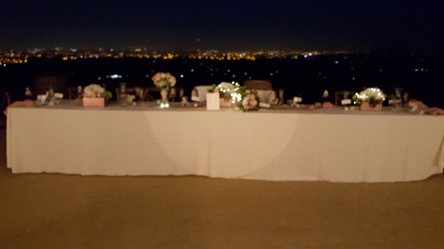 Evening head table