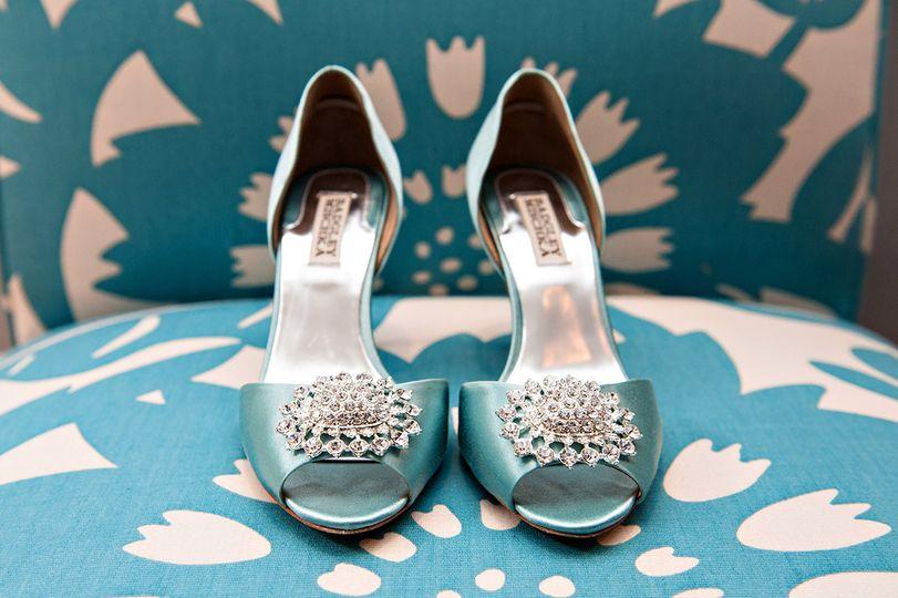 badgley mischka bridal shoes, something blue