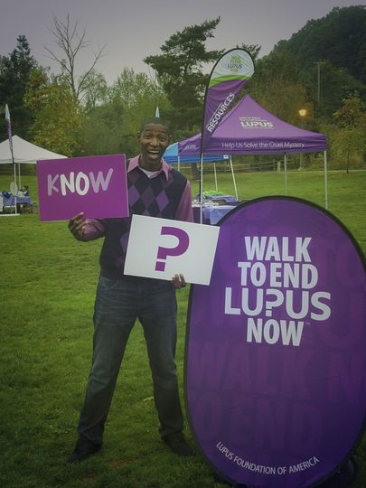 DJ Harris at the 2016 Walk to End Lupus Now event in Sellwood Park, Portland, OR.. He was the Guest...