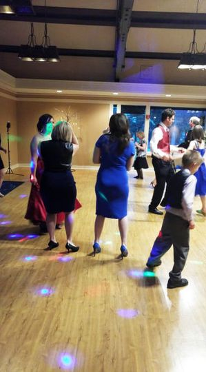 Guests of all ages enjoying the dance floor. Circa 2016.